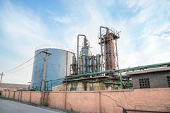 Old industrial chemical plant Royalty Free Stock Image