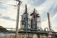 Old industrial chemical plant Royalty Free Stock Photos