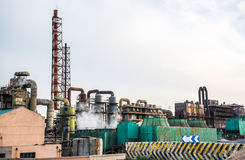 Old industrial chemical plant Stock Photos