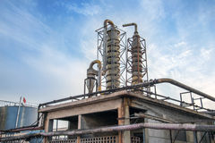 Old industrial chemical plant Stock Image