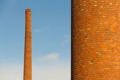 Old Industrial Chimneys Stock Images