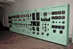 Old industrial control panel Royalty Free Stock Photo