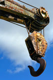 Old Industrial Crane Hook royalty free stock images