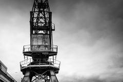 Old Industrial Crane Stock Photo