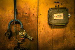 Old industrial electric box Royalty Free Stock Photo