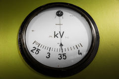 Old industrial electronics gauge instrument in a firm Stock Photography