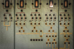 Old industrial electronics switch cupboard in a firm Stock Images