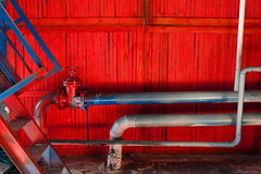 Old industrial factory pipes Royalty Free Stock Image