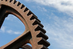 Old industrial gear Royalty Free Stock Photography