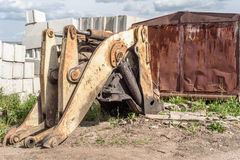 Old Industrial Hydraulic Grab at a Scrap Breakers Yard Stock Images
