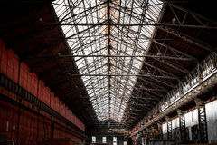 Old industrial interior Stock Images
