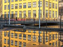The old industrial landscape in Norrkoping Royalty Free Stock Images