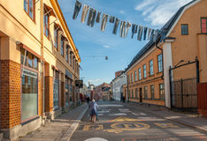 The old industrial landscape in Norrkoping, Sweden Stock Photos
