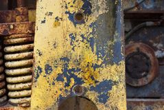 Industrial Texture 3656. Old industrial machinery rusting at an abandoned site stock photo
