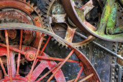 Old Industrial Machinery Wheels Stock Photo