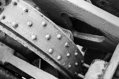 Old industrial mechanism details assembly Royalty Free Stock Photo