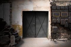 Old industrial metal gate Stock Images