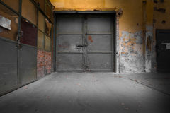 Old industrial metal gate Royalty Free Stock Photography