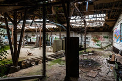 Old industrial place in decay. An old industrial building in decay Stock Photography