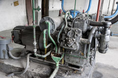 Old industrial pump Royalty Free Stock Images