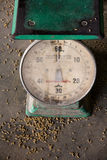 Old industrial scales Royalty Free Stock Photography