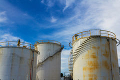 Old Industrial Silos Stock Photography