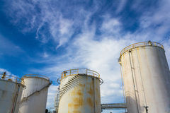 Old Industrial Silos Stock Photos