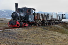 Old industrial train Royalty Free Stock Photos