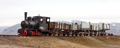 Old industrial train Royalty Free Stock Image