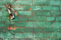 Old industrial wall. Old brick wall with many colors Royalty Free Stock Photo
