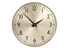 Old Industrial Wall Clock Royalty Free Stock Images