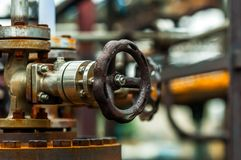 Old industrial water supply parts Royalty Free Stock Photos