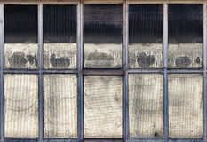 Old industrial windows Stock Photos