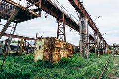 Old industrial zone landscape Royalty Free Stock Image