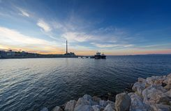 Old industrial zone of Piraeus Port, Greece. stock image