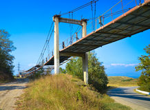 Old industriual brodge in romania royalty free stock photo