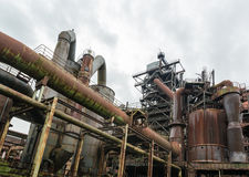 Old industry buildings at the Landschaftspark Duisburg Royalty Free Stock Photo