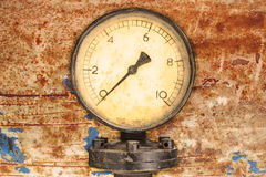 Old industry display mano meter Royalty Free Stock Image