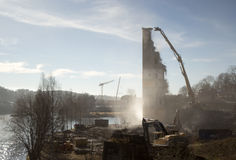 An old industry site being demolished Stock Photography