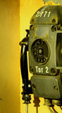 Old industry telephone. A very old industry telephone royalty free stock images