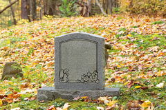Old blank infant childs gravestone Stock Image