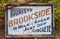 Old information sign Royalty Free Stock Photo