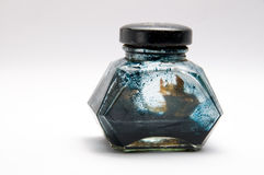 The old ink bottle Stock Photography