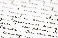 Old ink letter Royalty Free Stock Photo