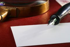 Old ink pen Royalty Free Stock Photos