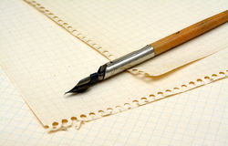 Old ink pen Stock Photos