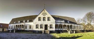 Old inn at Korinth on funen in Denmark. Old withered inn at Korinth on funen in Denmark stock photography