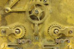 Old inner workings of a clock Stock Image
