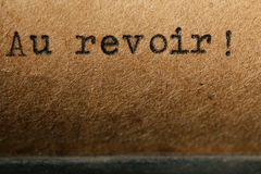 Old inscription on a typewriter Stock Photos