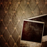 Old instant photo frame. On grunge background Royalty Free Stock Photo